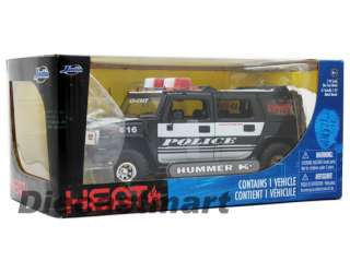 JADA HEAT 124 HUMMER H2 2011 FAT TIRES POLICE WHITE