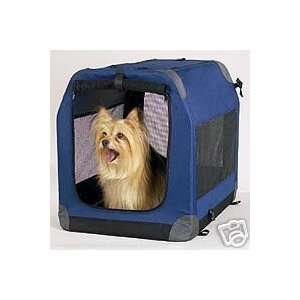 GUARDIAN GEAR Soft Sided Collapsible Dog Crate Med Blue