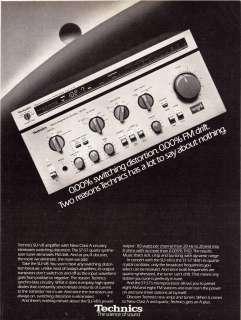 1980 Vintage Print Ad TECHNICS SU V8 ST S7 TUNER AMP