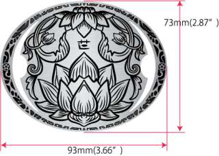 Buddhist Lotus (Carved Pattern Metallic) Inlay Sticker Decal