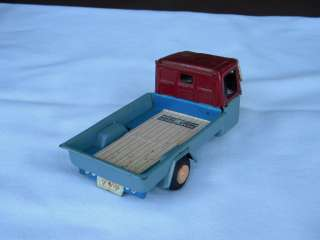 RARE* vintage BANDAI japan 1950S MAZDA 3 WHEEL DELIVERY TRUCK tin