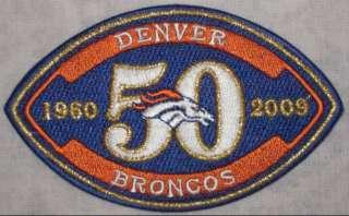 DENVER BRONCOS 50TH ANNIVERSARY PATCH NFL FOOTBALL