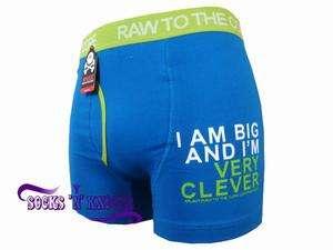 Mens Xplicit Blue I Am Big And I`m Very Clever Boxer Shorts