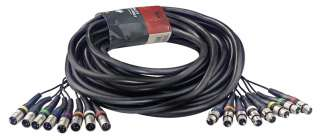 Multicore Multi Channel Recording Snake Cable 8 XLR F to 8 XLR |