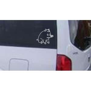 Spider Pig Cartoons Car Window Wall Laptop Decal Sticker    White 26in