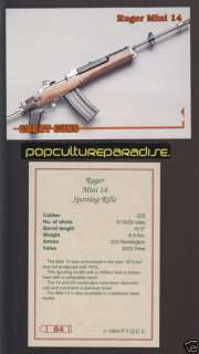 1975 RUGER MINI 14 SPORTING RIFLE .223 GREAT GUNS CARD