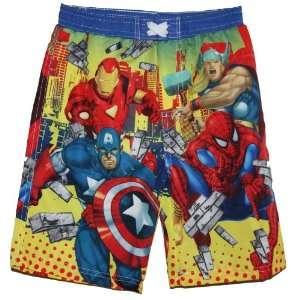 Spiderman Iron Man Swim Trunks Bathing Suits Medium