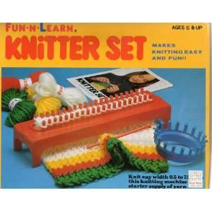 FUN N LEARN KNITTER SET (Knitting Machine and Starter Supply of Yarn