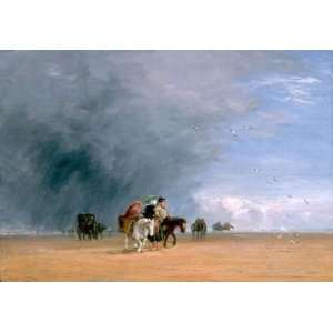 oil paintings   David Cox   24 x 16 inches   Crossing The Sands Home