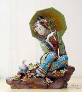 Chinese Porcelain Figurine Oriental Lady Painting   A Fine Collection