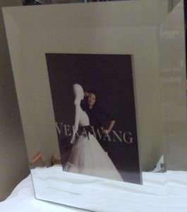 Wedgwood Vera Wang Beveled Mirror Picture Frame 5x7 NEW