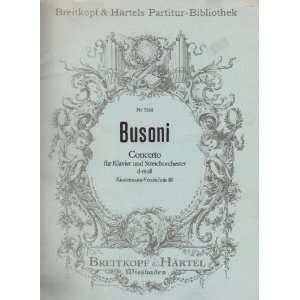 Partitur Bibliothek, 5160): Ferruccio Busoni, Larry Sitsky: Books
