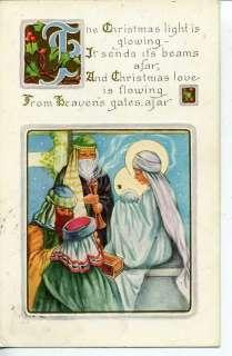VINTAGE CHRISTMAS POSTCARD THE THREE WISE MEN WHITNEY M