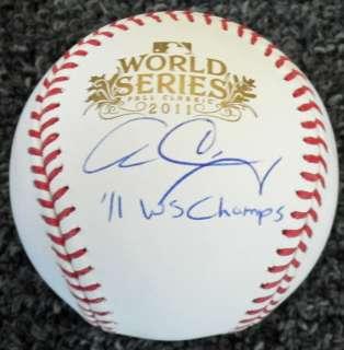 Cardinals ALLEN CRAIG Signed 2011 World Series Baseball w/WS Champs