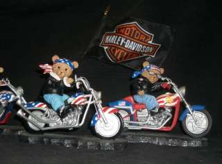 pc BORN TO RIDE MOTORCYCLE FIGURINES HARLEY DAVIDSON