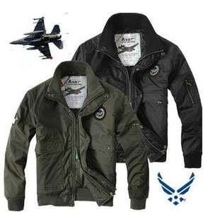 NEW MENS MA1 US AIR FORCE PILOT ARMY WORK BOMBER JACKET AVIATOR 2