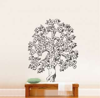 Vinyl Wall Decal Sticker Flowering Tree #652 6ft Tall Size