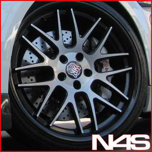 350Z 370Z RODERICK RW 6 CONCAVE BLACK STAGGERED WHEELS RIMS