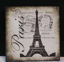 Vintage Inspired Paris Eiffel Tower Travel Custom Wood Wall Plaque NEW