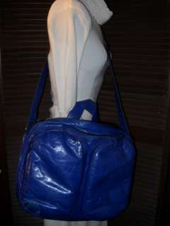 M0851 PUFFY RETRO BLUE LEATHER COMPUTER BAG LAPTOP BAG SOLD OUT