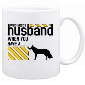 Who Needs Husband When You Have A White German Shepherd Dog  Mug Dog
