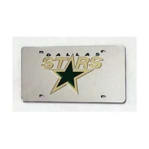 DALLAS STARS (SILVER) LASER CUT AUTO TAG Sports