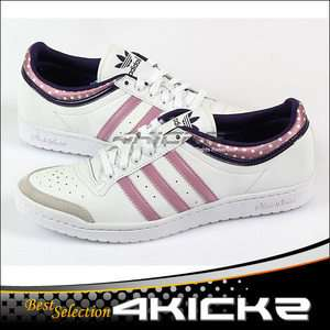 Adidas Top Ten Low Sleek W White/Pink/Eggplant Casual Sports Heritage