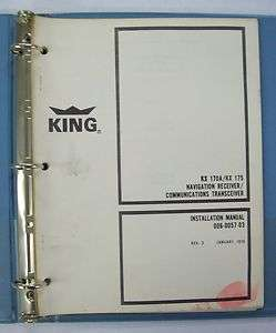 & KX 175 Nav Receiver/Communications Tranceiver Installation Manual