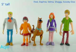 Scooby Doo Action Figures Mystery 5 Friend Pack New