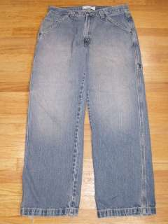 Mens Levis Strauss Signature Jeans Carpenter Size 32x30 Rugged Look