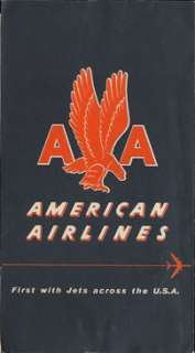 American Airlines ticket jacket, contains a ticket for a DTW LGA trip