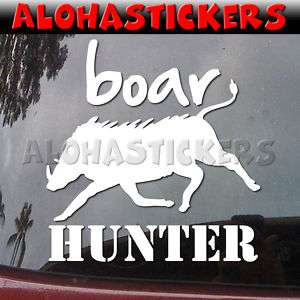 BOAR HUNTER Wild Pig Hunting Vinyl Decal Sticker I99
