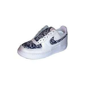 Bandana Fever : Custom Bandana Nike Air Force One Low Top (White/Navy