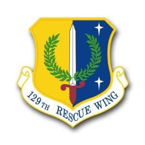 US Air Force 129th Rescue Wing Decal Sticker 3.8 6 Pack