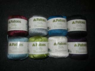Patons Silk Bamboo Eco Friendly Yarn 1 Skein Select Colors
