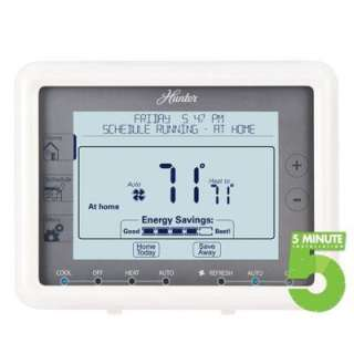 Thermostat Universal Programmable Touchscreen 5 Minute Installation
