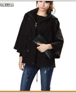 Fashion Hooded Cape Coat Red Outerwear Black Jacket Hot Selling Womens