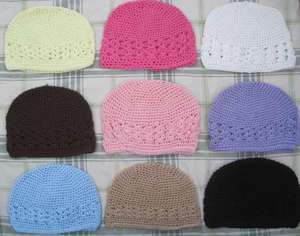 Crochet Beanie Hat Cap Infant Baby Girl WholeSale