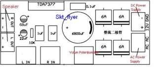 2pcs DA7377 BL Audio Power Amplifier Board PCB DIY wo channel 2X20W
