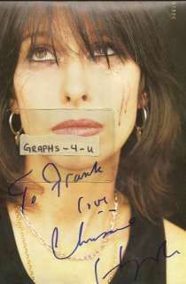Chrissie Hynde Autograph The Pretenders Tyra Banks