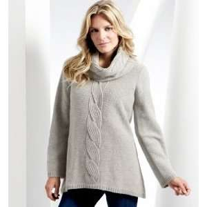 Wool Blend Cowl Neck Jumper with Angora