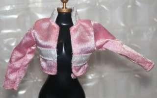 shinny jacket coat pink & white collar running suit top shirt