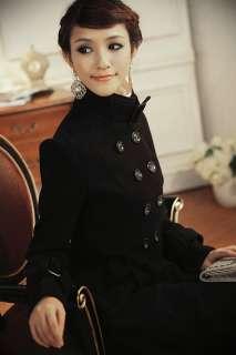 Womens Double Breasted Fleece Jacket Coat Trenchcoats 7855#