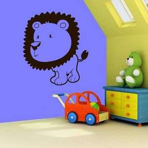 Kids Room Lion Vinyl Wall Decal Sticker Big 23x20