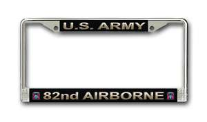 Army 82nd Airborne Div Military License Plate Frame