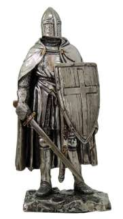 MEDIEVAL KNIGHT 7 TALL CRUSADER FOOT SOLDIER STATUE FIGURINE SUIT OF
