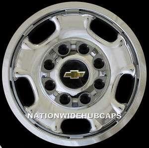 Chevy 2500 3500 17 8 Lug CHROME Wheel Skins Rim Covers