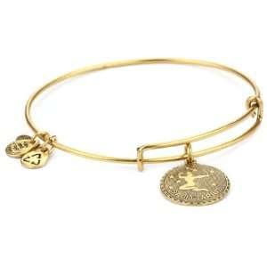 Alex and Ani Bangle Bracelet Bar Russian Gold Plated Sagittarius