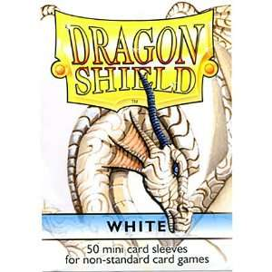 Dragon Shield Mini Card Sleeves White 50 Count: Toys