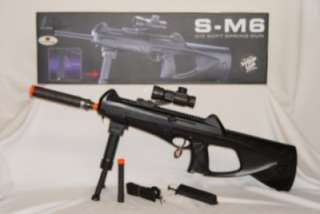 SM6 Airsoft Sniper Rifle with Electronic Scope & BiPod New